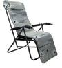 Easy Folding Chair with Cushion in Grey Colour by Eros