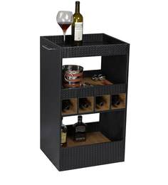 Ebony Leather Bar Trolley by Three Sixty Degree