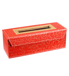 Ecoleatherette Leatherette Multicolour 1-rod Handcrafted Bangle Box - 1483281