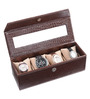 Ecoleatherette Leatherette Crocodile 4-case Watch Box