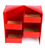 Ecoleatherette Almirah Leatherette Red Handcrafted Jewellery Box