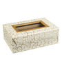 Ecoleatherette Leatherette White & Golden 2-rod Handcrafted Bangle Box