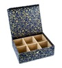 Ecoleatherette Leatherette Multicolour 6 Compartments Handcrafted Bangle Box