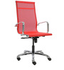 Economical Black Manager Chair in Red Colour by FabChair