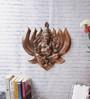 eCraftindia Brown Metal Lord Ganesha on Lotus Wall Hanging