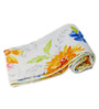 eCraftIndia Blue Poly Cotton Floral Single Blanket - Set of 1