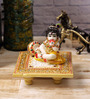 eCraftindia Multicolour Makrana Marble Laddu Gopal on Chowki