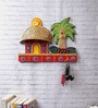 eCraftindia Multicolour Papier Mache Cottage Key Holder