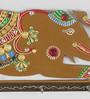 Ecraftindia Multicolour Papier Mache Elephant Key Holder