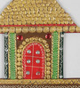 Ecraftindia Multicolour Papier Mache Traditional Village Hut Key Holder