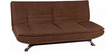 Edo Three Seater Sofa Bed in dark Brown Colour by Furny
