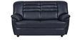 Edo Two Seater  Sofa in Black Leatherette by Furny