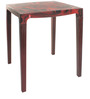 Eden Two Seater Dining Table in Rosewood Colour by Cello