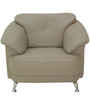 Edo One Seater Sofa in Buff Colour by Furnitech