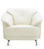 Edo One Seater Sofa in Ivory Colour by Furnitech