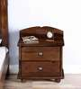 Edward Bedside Table in Provincial Teak Finish by Amberville