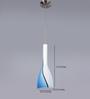 Eglo White & Blue Glass Pendant