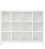Eight Cube Tall Wide Book Shelf in White Colour by Asian Arts