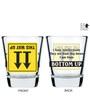 Ek Do Dhai Bottoms Up 60 ML Shot Glass - Set of 6