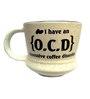Ek Do Dhai OCD Cream Ceramic Mug - Set of 2