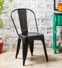 Ekati Metal Chair in Black Color with Eyelet by Bohemiana
