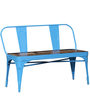 Ekati Bench with Chair in Sky Blue Color by Bohemiana