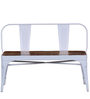 Ekati Bench with Chair in White Color by Bohemiana
