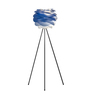 Ekko Blue Polypropylene Luz Azul Led Tripod Floor Lamp