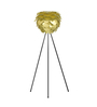 Ekko Gold Polypropylene Cocoon Led Tripod Floor Lamp