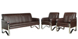 Elegance Sofa Set (3+1+1) Seater in Brown Colour by Royal Oak