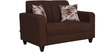 Elena Two Seater Sofa with Throw Cushions in Peanut Brown Colour by Casacraft
