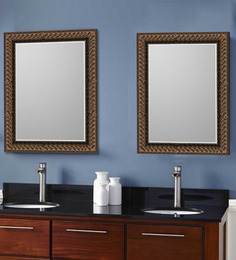 Elegant Arts and Frames Browns Synthetic Wood Bath Mirror 1 Pc