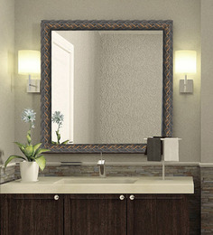 Elegant Arts and Frames Grays Synthetic Wood Bath Mirror 1 Pc