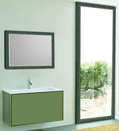 Elegant Arts and Frames Greens Synthetic Wood Bath Mirror 1 Pc