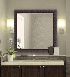 Elegant Arts and Frames Reds Synthetic Wood Bath Mirror 1 Pc