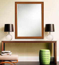 Elegant Arts And Frames Brown Wooden Decorative Wall Mirror - 1539294