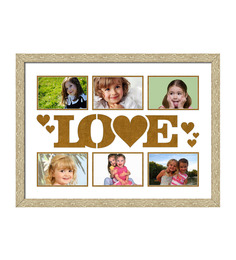 Elegant Arts And Frames Cream & Brown Synthetic 18 X 24 Inch Collage Photo Frame - 1404477