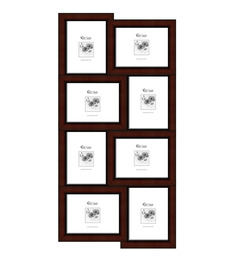 Elegant Arts And Frames Red Synthetic Wood 17 X 34 Inch Collage Photo Frame