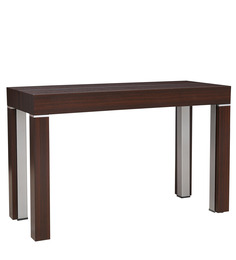Elegant Convertible Console Table in Brown Colour by Gravity
