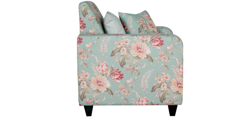 Buy Elena One Seater Sofa In Grey Floral Print By