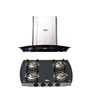 Elegant Germany Ele-1001 90 Cm Hood Chimney & 4-Burner Cooktop Combo