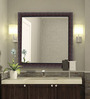 Alpin Bath Mirror in Red by Amberville