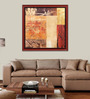 Elegant Arts and Frames Paper 22.5 x 22.5 Inch Abstract Pattern Framed Art Print