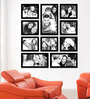 Elegant Arts and Frames Black Synthetic 38 x 1 x 43 Inch Group 10-E Wall Collage Photo Frame