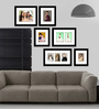 Elegant Arts and Frames Black Synthetic 52 x 1 x 42 Inch Group 6-B Wall Collage Photo Frame