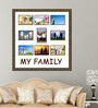 Elegant Arts and Frames Black Wooden 24 x 1 x 25 Inch My Family Collage Photo Frame