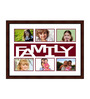Domingo Collage Photo Frame in Brown by CasaCraft