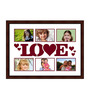 Drina Collage Photo Frame in Brown by CasaCraft