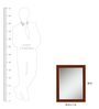 Elegant Arts and Frames Brown Wooden Decorative Wall Mirror