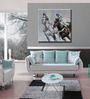 Elegant Arts and Frames Canvas 39.4 x 39.4 Inch Caballo Paseo by Andrew. H Framed Painting